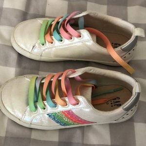 Gap girls rainbow sneakers sz 13